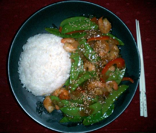 Thai Shrimp and Roasted Red Chili Stir-Fry