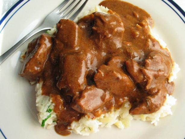 Yum-O Stewed Beef in Smoky Mustard Sauce