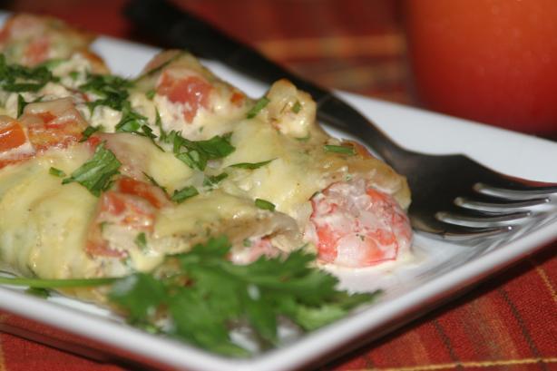 Gourmet Shrimp Enchiladas