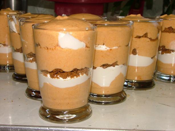 Pumpkin Mousse Dessert Parfait
