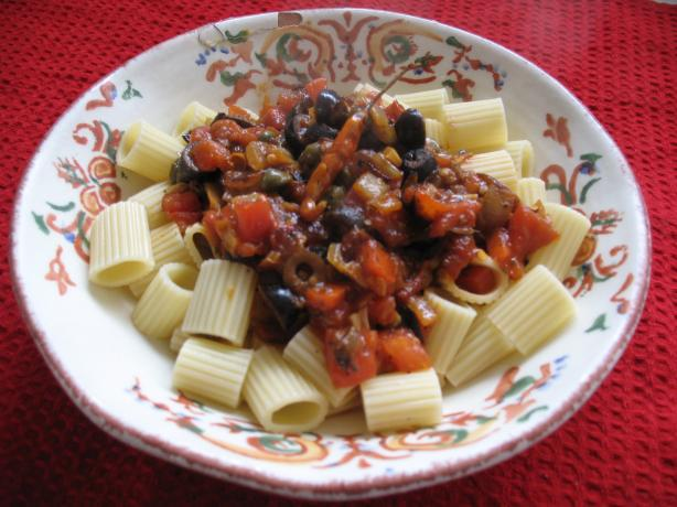 Anchovy-Olive Pasta Sauce