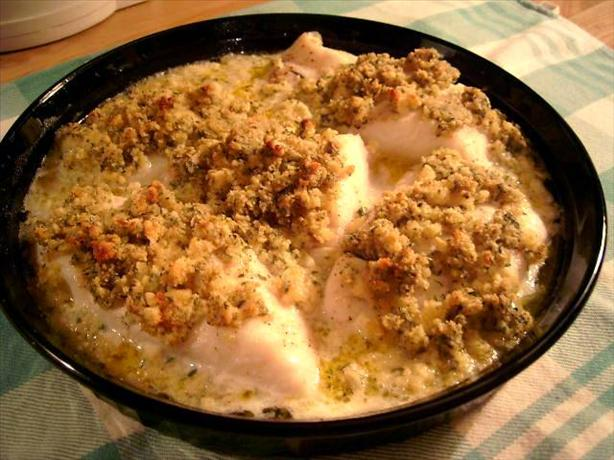 Baked Haddock With Mustard Crumbs