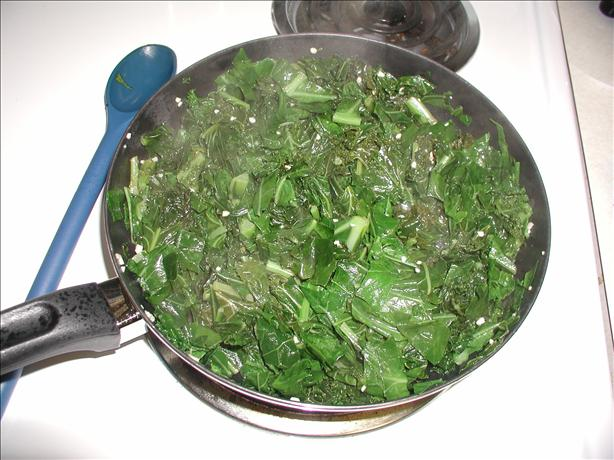 Lemon-Garlic Greens Saute