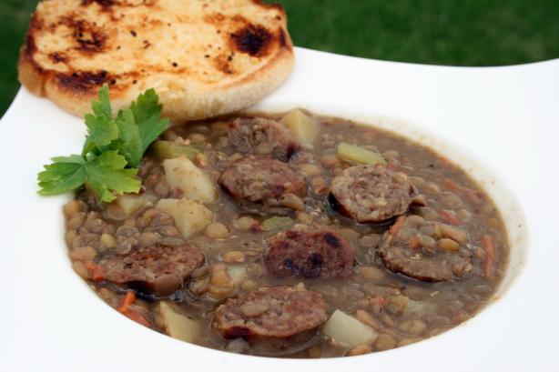 My Omas Lentil Soup