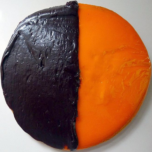 Black and Orange Cookies (Halloween)