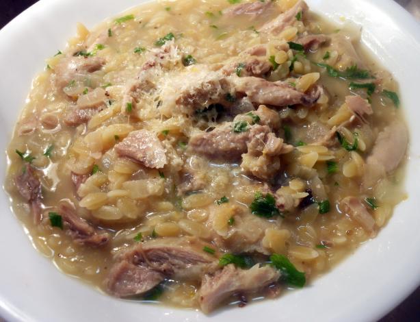 Chicken, Risoni and Lemon Soup