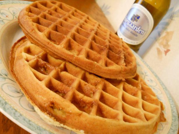 Beer-Infused Belgian Waffles