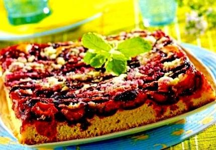Polish Fresh Plum Cake--Placek Z Sliwkami
