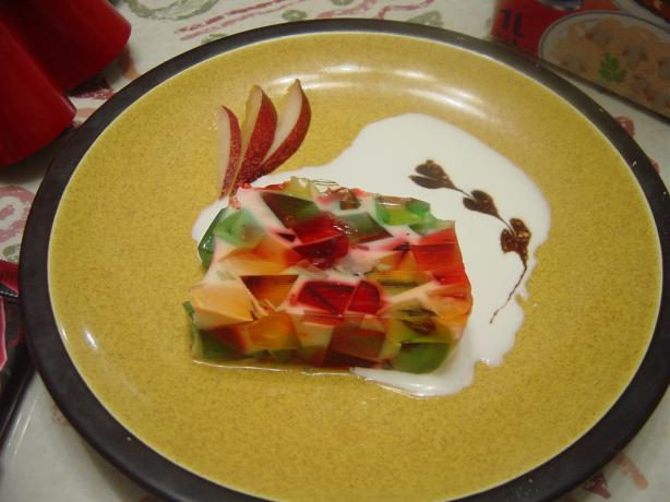 Stained Glass Cake With Milk Jello