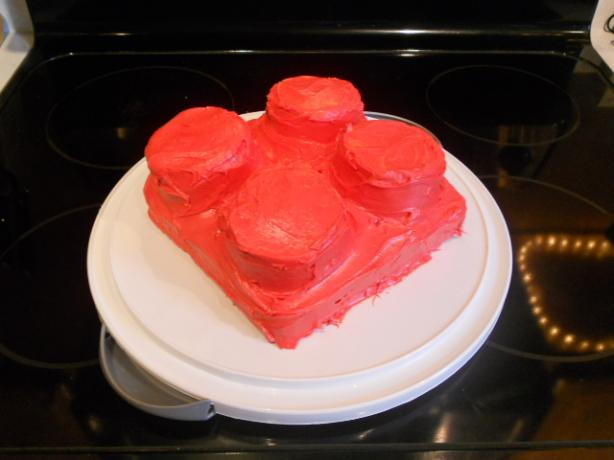 Red Lego Cake