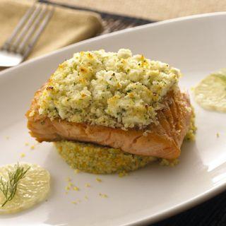 Alouette Fat Free Feta Encrusted Salmon