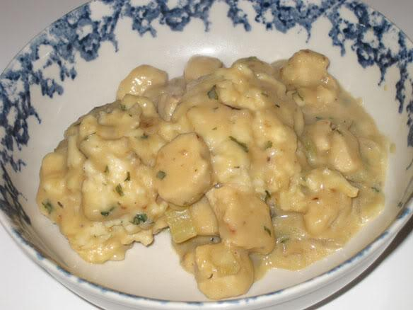 Vegetarian Chik'n and Dumplings