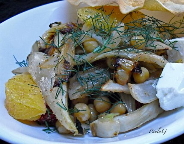 Roasted Fennel With Chickpeas