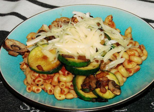 Zucchini, Mushroom and Pasta Skillet