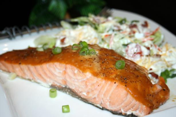 Simple Sweet-Hot Mustard Salmon