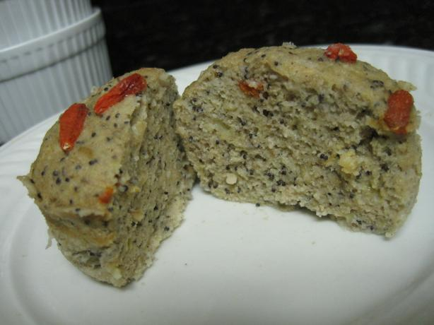 Superfood Lemon Poppy Seed Muffin (Gluten Free-Mmm)