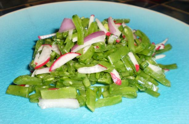 Snow Pea and Radish Slaw