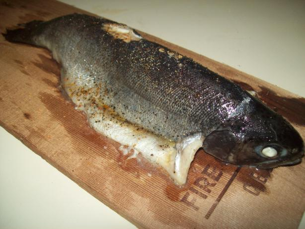 Plank Baked Rainbow Trout