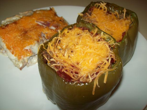 Beefy Stuffed Bell Peppers