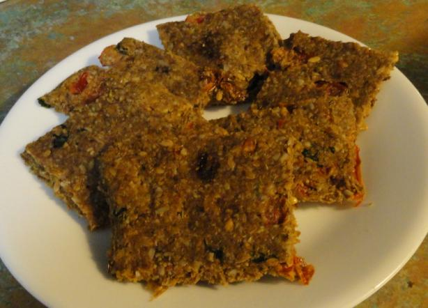 Tomato, Basil, and Flax Crackers