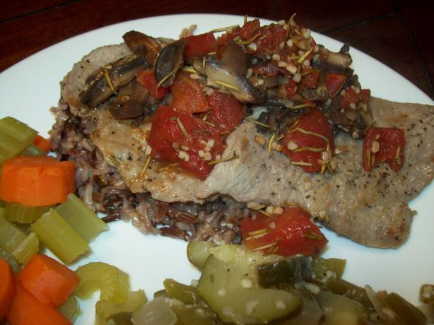 Mushroom Veal Cutlets With Tomatoes