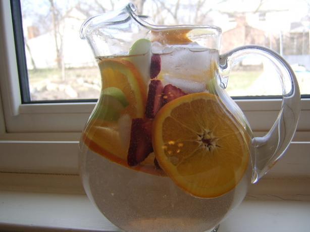 Fruited Water (Apples, Oranges and Strawberries)
