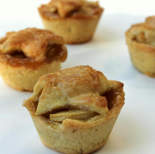 Brandy-Apple Mini Pies With Cornmeal Crust
