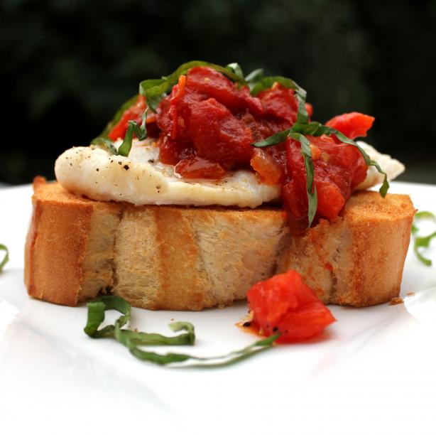 Roasted Fish Bruschetta