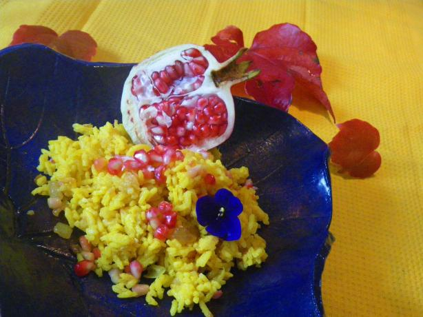 Yellow Rice Pilaf Pomegranate