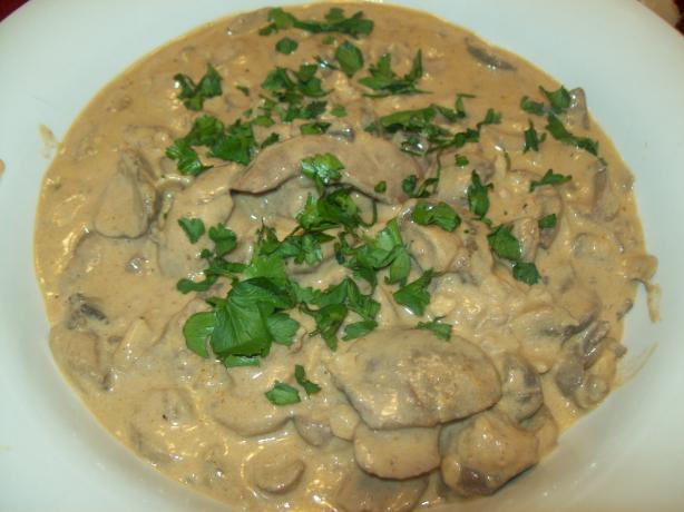 Pork Kidneys in Mushroom Sauce