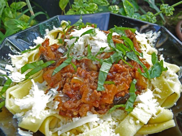Eggplant Bolognese