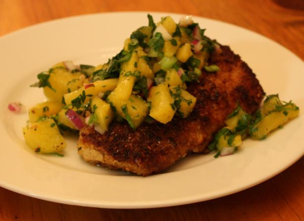Macadamia and Coconut Crusted Mahi Mahi With Pineapple Salsa