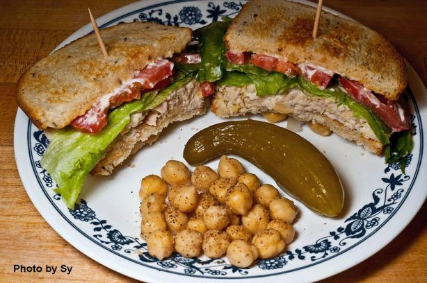 Tuna and Chickpea Sandwich on Rye