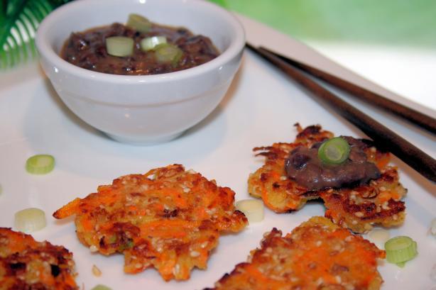 Sesame Carrot Pancakes W/Black Bean Garlic Sauce