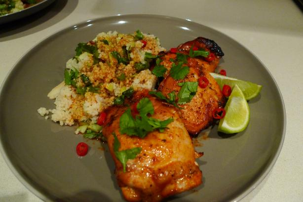 Paprika Butter Chicken With Couscous