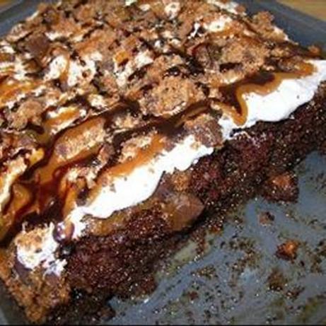 Decadent Butterfinger Cake