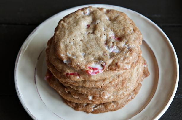 Crushed Candy Cane Cookies!!