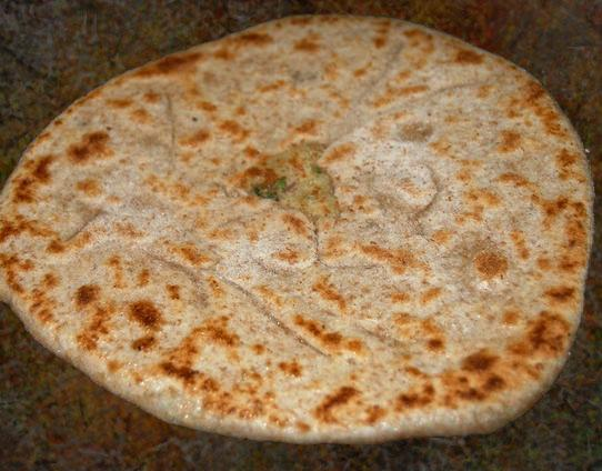 Onion-Stuffed Flat Bread