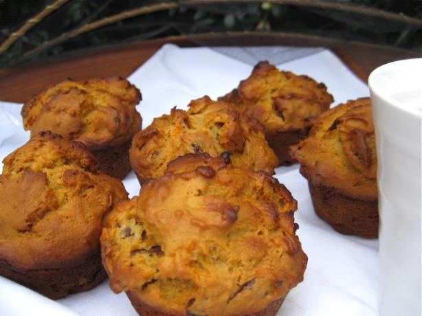 Honey Carrot and Date Muffins