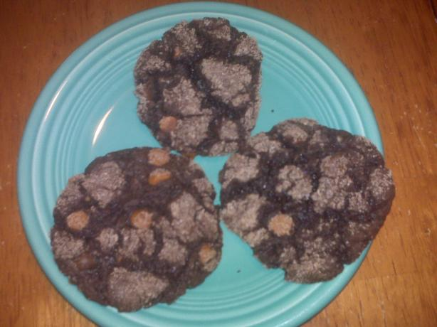 Chocolate Cinnamon Cake Mix Cookies