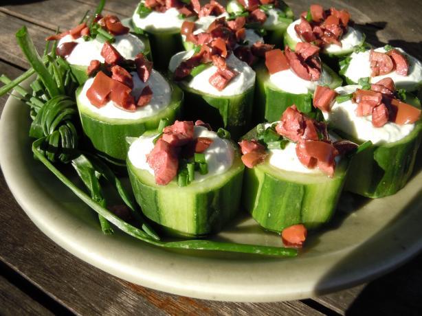 Creamy Chive Cucumber Cups