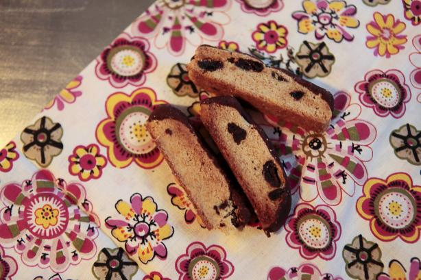 Chocolate-Dipped Cherry Biscotti