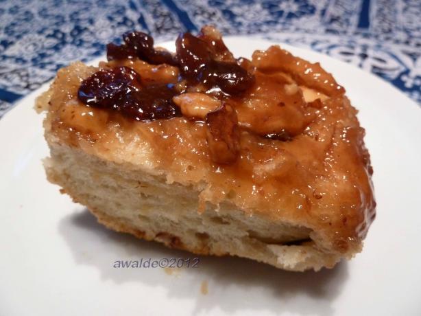 Bread Machine Cinnamon Buns With Walnuts & Raisins