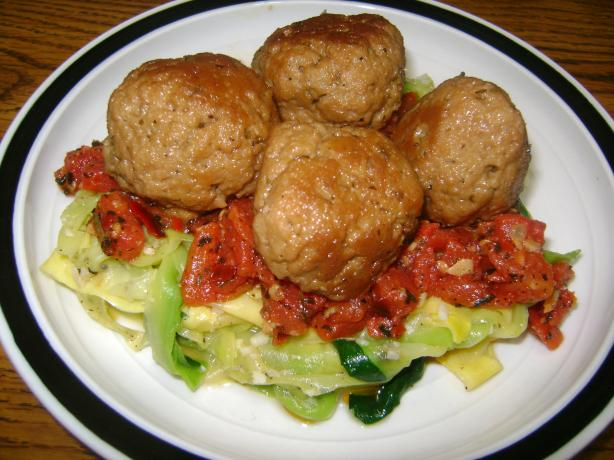 Pasta Aglio Olio With Seitan Meatballs