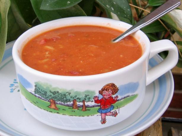 Tomato Hummusoup
