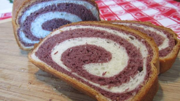 Purple Yam Two-Tone Bread