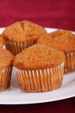 Carrot Mini Muffins Without Eggs