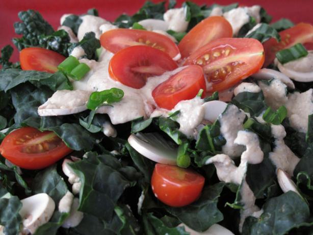 Calcium Rich Sesame Kale Salad