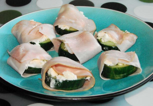 Ham and Herb Cheese Cucumber Snackers