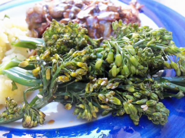 Steamed Broccolini With Honey Soy Sauce